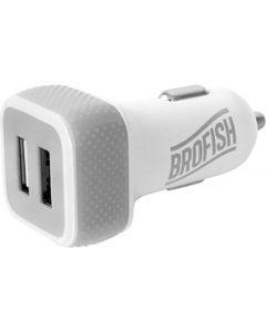 Brofish USB Carcharger Duo wit/grijs