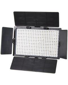 Falcon Eyes LED Lamp Set Dimbaar DV-384CT-K2 incl. Accu
