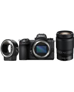 Nikon Z6II Lens + Adapt Kit (w/24-200 + FTZ mount adapter)